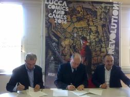 Sigla accordo Lucca Comics and Games e Capannori