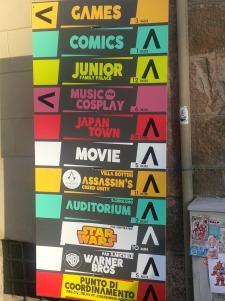 comics 2014 - cartello settori