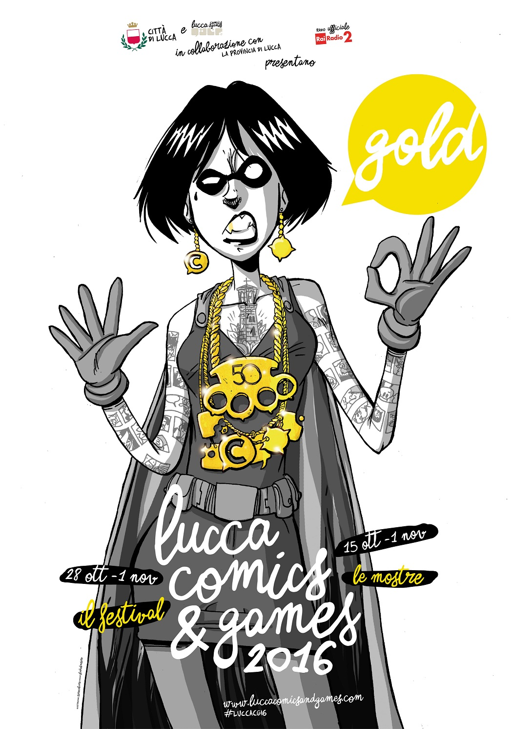 Poster Lucca Comics & Games Gold (1)